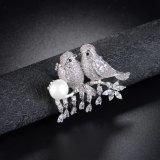 Micro Brooch animale Shinning d'impostazione pavimentato di lusso di Pin dell'uccello di Zircon