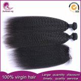 Barato preço Virgem malaio de cabelo humano tece Kinky um cabelo liso
