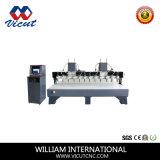 Router liso do CNC do Woodworking da máquina de gravura das Multi-Cabeças