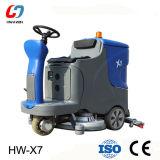 Máquina de limpeza de lavador de piso de condução industrial