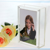 China Factory Wholesale Rectangle Acrylique Lucite Vase avec cadre photo Haute qualité