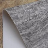Couro de madeira impresso do saco da esponja do PVC da textura da grão da casca de árvore