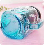 Vidrio de buena calidad Mason frasco con tapa de metal y la paja