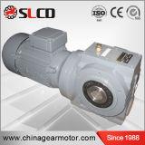 Serie S de caja de cambios de 90 grados del eje Motorreductor helicoidal Gusano Reductores Drive Unit