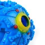 Juguetes Squeaky perro cachorro de bola de sonido de gran perro mastique Molar Fuga de juguete Bola de alimentación de los alimentos