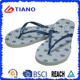 Madame bon marché de promotion Beach Flip-Flops avec le haut de PVC (TNK10034)