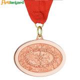 Cheap médaille avec ruban personnalisé