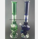 Blauer, grüner Geist-Glaswasser-Rohr für Filter-Wiederanlauf-Rohr
