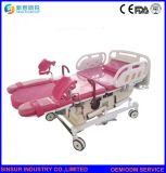 高品質の病院の婦人科の使用の電気結合された配達病院のベッド