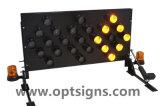 차량에 의하여 거치되는 LED 경고등 도로 안전 방향 화살 널