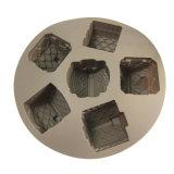 6 os moldes das cavidades do molde de bolo de silicone flexível biscoito artesanal do Molde