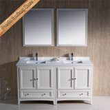 Fed-1072e шкаф ванны мебели ванной комнаты твердой древесины новой конструкции 60 дюймов самомоднейший