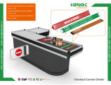 Supermarkt-quadratischer Prüfungs-Kostenzähler-Plastikteiler-Stab