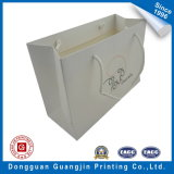 Color bianco Paper Shopping Bag con Lamination