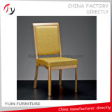 Recepção real Salão que janta a cadeira dourada antiga ajustada do convidado do bufete (BC-213)