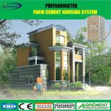 A casa pré-fabricada clara do frame de aço de construção de aço planeia o edifício