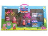 Dessin animé populaire des jouets roses de famille de porc pour des gosses