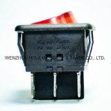 Rk1-05 interrupteur à bascule rond noir Dpst 6 broches