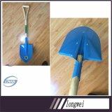 De Koreaanse Schop van de Schop van het Koolstofstaal van het Handvat van de Hulpmiddelen van de Stijl Landbouw Houten HoofdS501