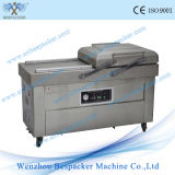 Lavado de gas de nitrógeno de doble cámara de vacío de alimentos Máquina de embalaje