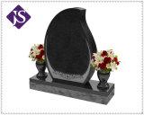 Headstone commemorativo grave del monumento del granito, pietra tombale del granito con il caso e scultura