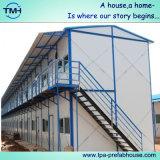 Estructura de acero casa prefabricada en el sitio