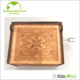 Rectángulo de música grabado de madera de la manivela de la alta calidad popular 2017 para los regalos antiguos