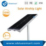 Éclairage routier solaire d'aluminium de l'alliage 30W de la capacité élevée de lithium