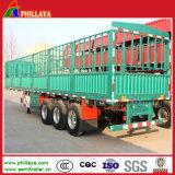 reboque da carga de 3axles 50-60ton Semi para Cattles