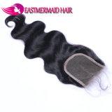 Parte brasiliana della metà dell'onda del corpo della chiusura del merletto dei capelli di Remy