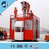 Gru del materiale da costruzione/elevatore/elevatore materiali costruzione di edifici con la doppia gabbia