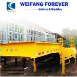 半Weifang Forveverの3車軸低いベッドのトレーラー