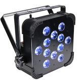 직업 단계 점화 DJ 호리호리한 동위 Uplights 무선 DMX 건전지 5in1 RGBWA 12*15W LED 편평한 동위 빛