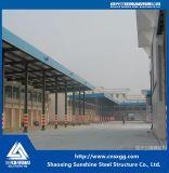 Struttura d'acciaio della singola portata liberata di per il magazzino, riparo della pioggia