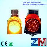 Indicatore luminoso d'avvertimento infiammante giallo alimentato solare di traffico di buona qualità