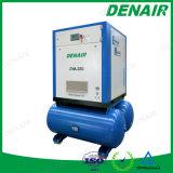 3 en 1 compresor del tornillo con el receptor y el secador de aire