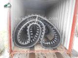750X150X66 Morooka、Ihi、フィアット日立、Alltrackのためのダンプのゴム製トラック機械装置部品