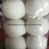 Billes blanches fabriquées à la main de dessiccateur de laines de la bille 100% de blanchisserie