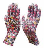 Букет из роз напечатать полиэстер гильзы PU покрытием трикотажные сад перчатки