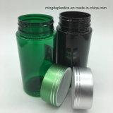 De vlakke Flessen van de Capsule van de Containers van de Pil van het Huisdier van de Vorm van de Cilinder van de Apotheek Plastic voor Verkoop met Metaal GLB