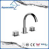 Populärer drei Loch-Bassin-Hahn-Messingwarmwasser- Auslaufventilhahn (AF0029-6)
