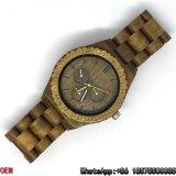 O quartzo verde Top-Quality do relógio do Sandalwood presta atenção a Hl03