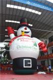 Рекламировать человека снежка рождества раздувной игрушки раздувного