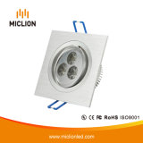 De aluminio de 3W+PC Downlight LED con CE