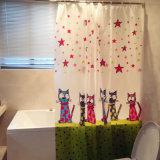 판지 고양이 아이들은 PEVA 목욕탕을%s 방수 샤워 커튼을 좋아했다