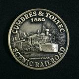 청동색 무뚝뚝한 동전 앙티크 청동 동전
