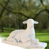 Escultura de mármol de las ovejas, estatua animal