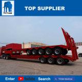Titan-Fahrzeugabnehmbarer Gooseneck 100 Tonne Lowboy Schlussteil für Verkauf