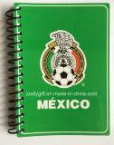Copa do Mundo a6 espiral preta Tampa programável portáteis de bolso promocionais