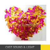 Цветастый декоративный Confetti в по-разному формах для украшения венчания